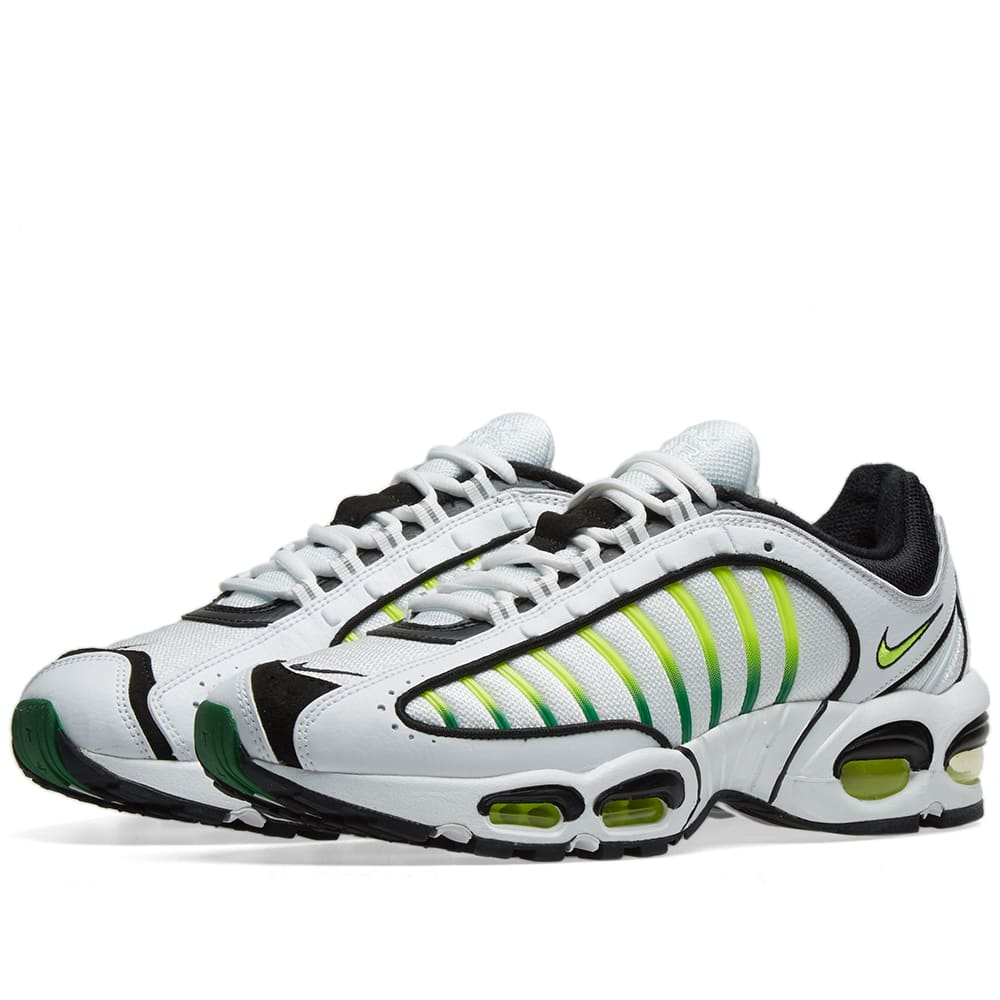 the best attitude f3ae4 a98fd Nike Air Max Tailwind IV White, Volt, Black   Aloe   END.