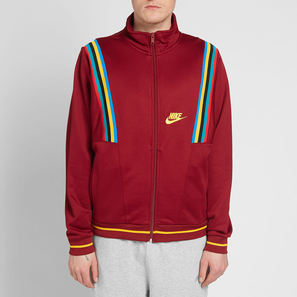Oblea Alojamiento Mediana  Nike Re-Issue Track Jacket Red & Gold | END.