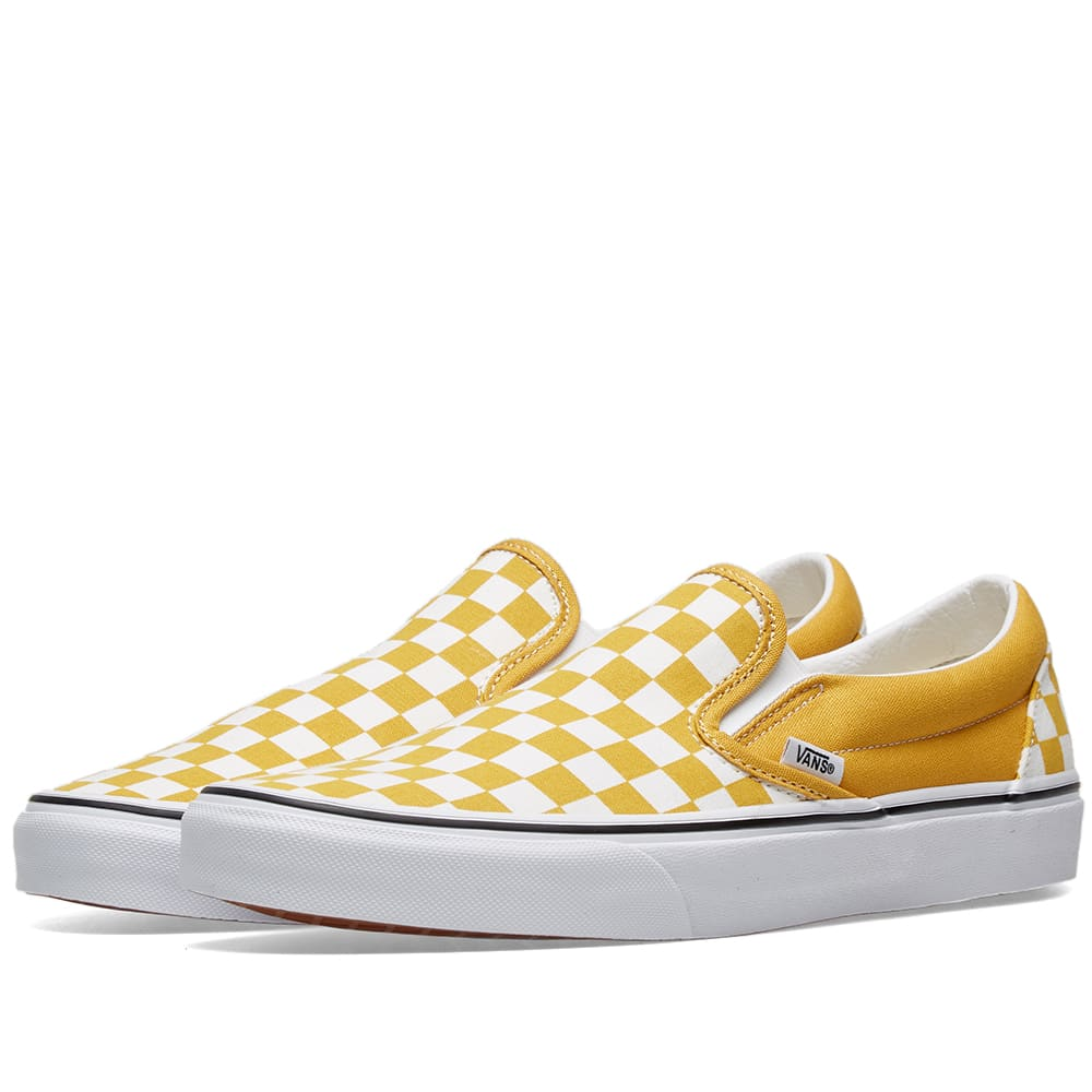 064a4a8cb Vans UA Classic Slip On Checkerboard Yolk Yellow & True White | END.