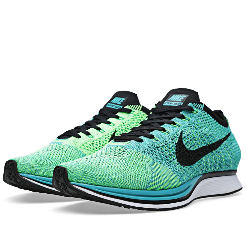 Nike Flyknit Racer (Sport Turquoise u0026 Black)
