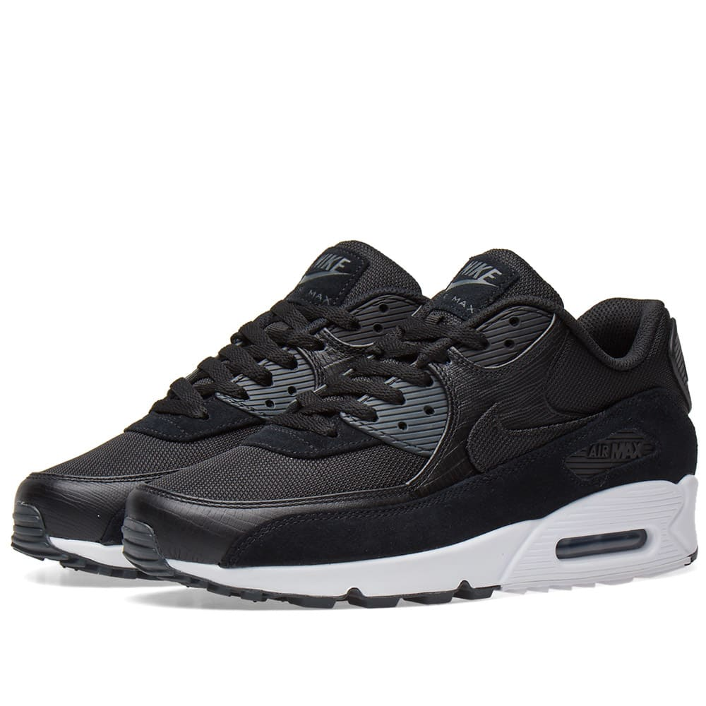 innovative design e5e14 8f5e8 Nike Air Max 90 Premium Black, White & Anthracite | END.