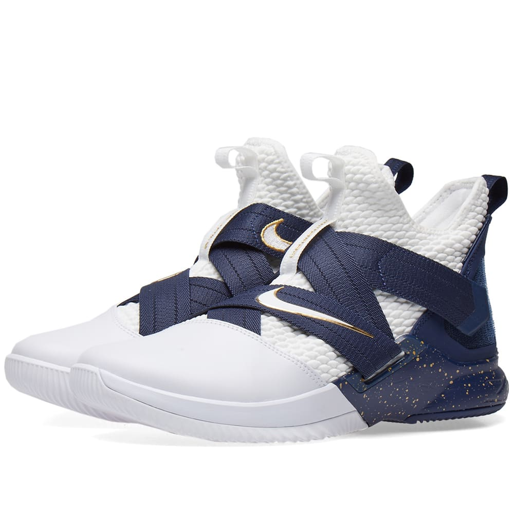 pretty nice 10ca1 c411f Nike Men S Lebron Soldier 12 Sfg Basketball Shoes, Blue In White
