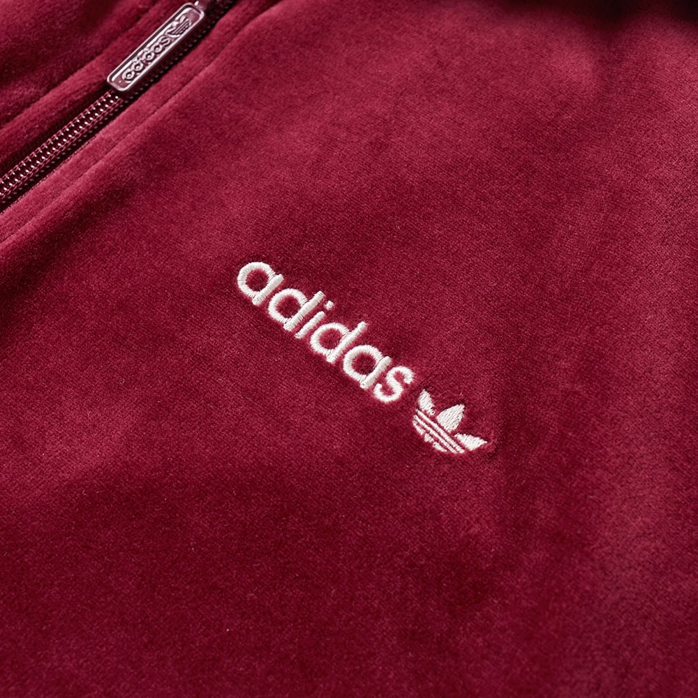 Adidas Originals CLR84 Velour Track Top Maroon | 5Pointz