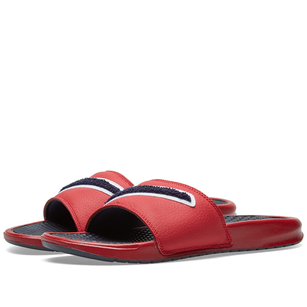 huge selection of a8f3b 5e54f Nike Benassi JDI Chenille Red, Obsidian   White   END.