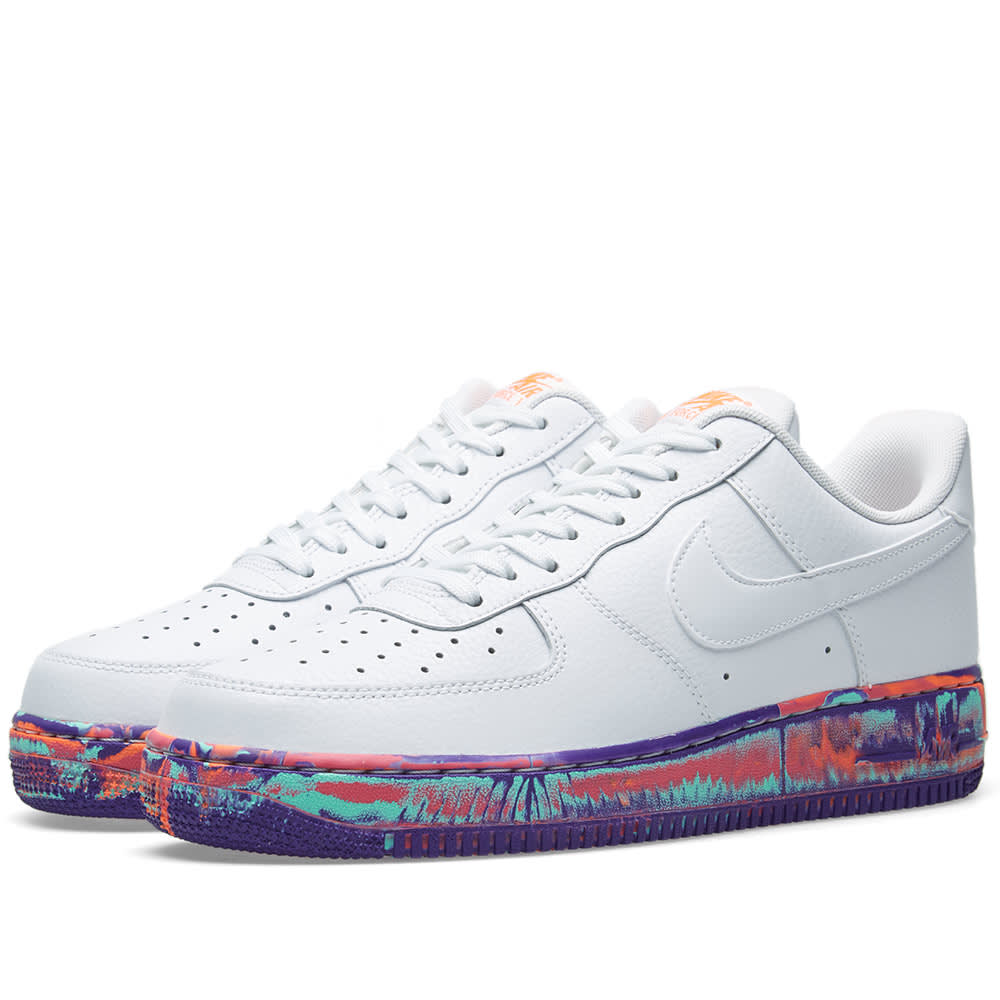 best service 8d551 1be3c Nike Air Force 1  07 LV8 Leather White   Vast Grey   END.