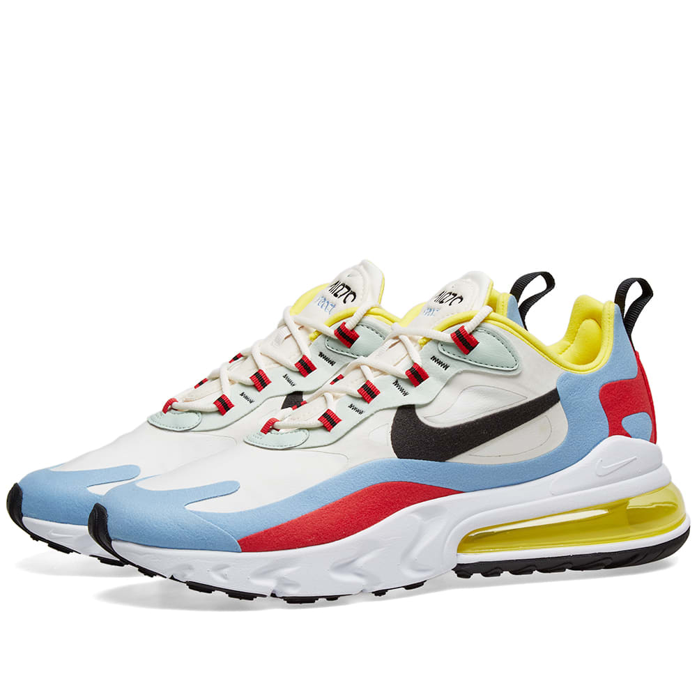 Nike Air Max 270 React W Phantom, Light Blue & Red | END.