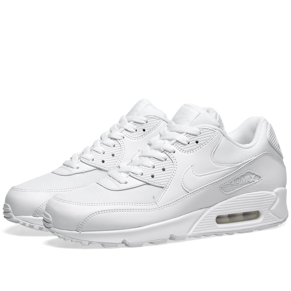 Nike Air Max 90 Essential Trainers In White 537384 111