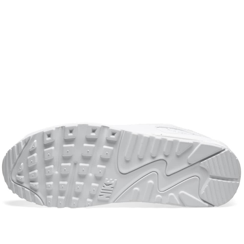Womens Nike Air Max 90 Essential Triple White 537384 111