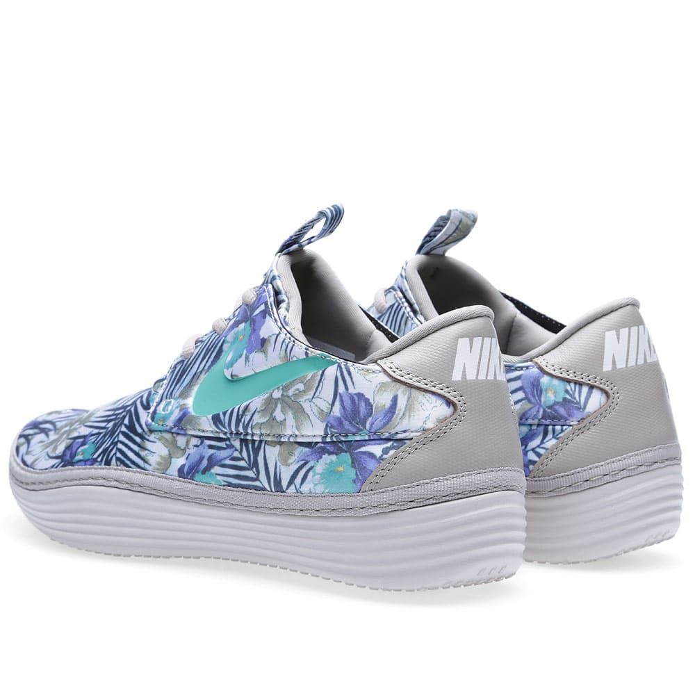 the best attitude 0d0be a9e18 Nike Solarsoft Moccasin SP  Floral  Classic Stone   Crystal Mint   END.
