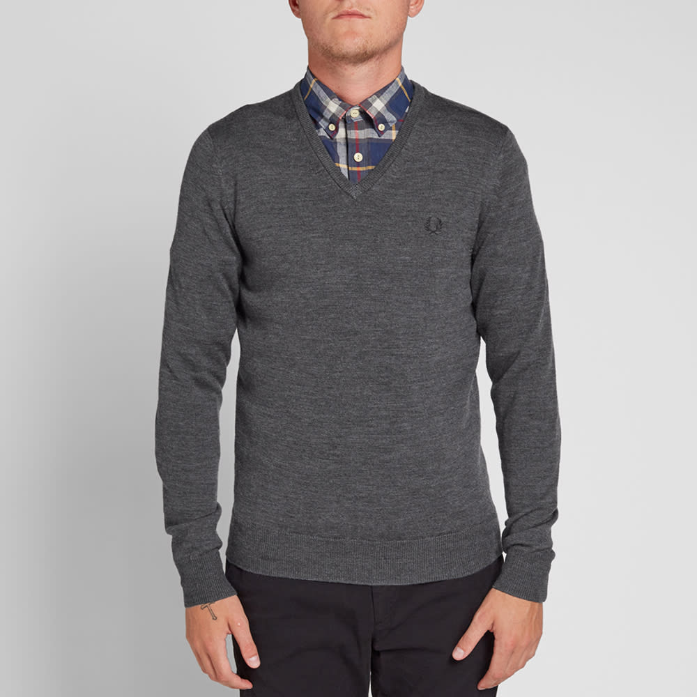 fred perry v neck sweater ebay cardigan with buttons. Black Bedroom Furniture Sets. Home Design Ideas