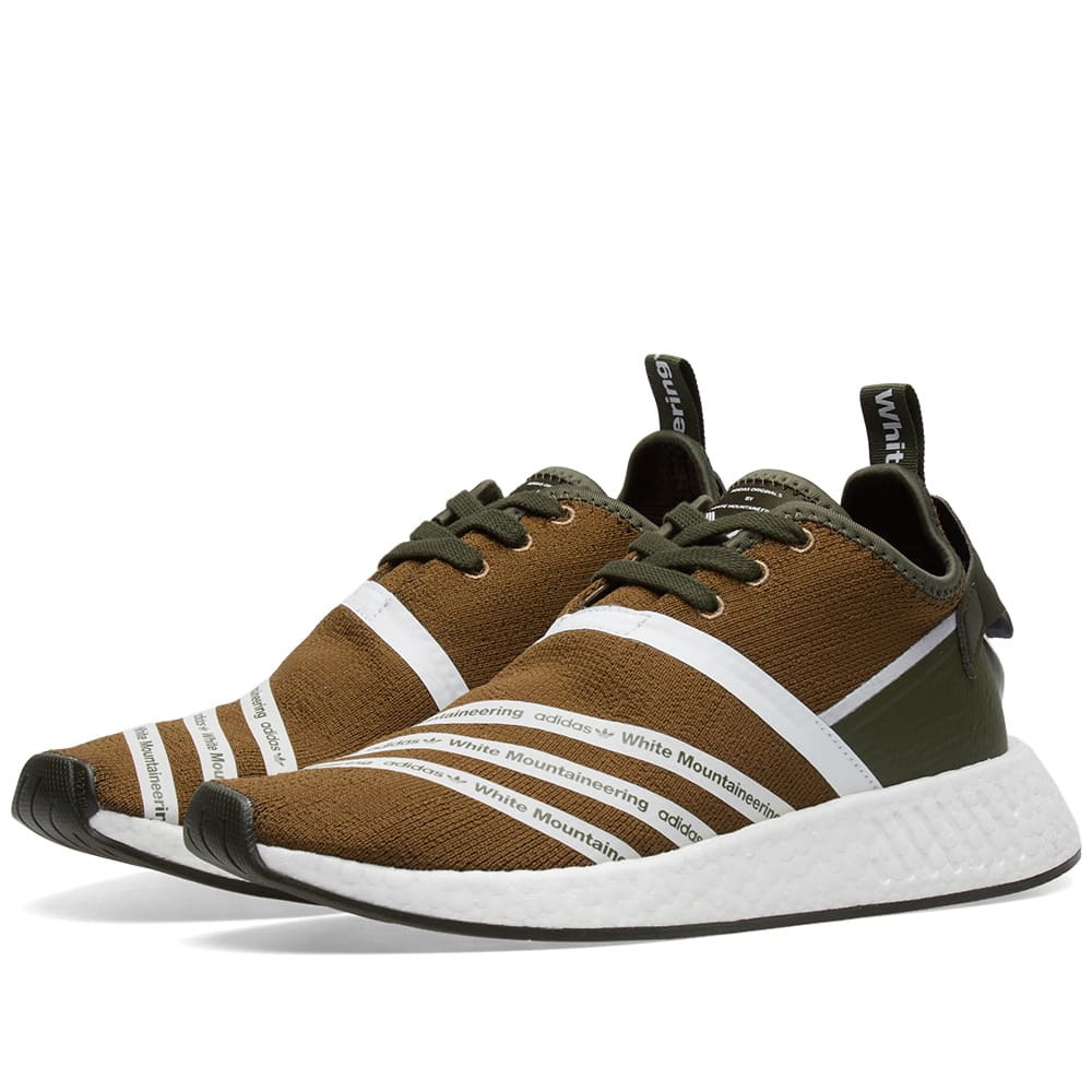 8cf3c0855c6f2 Adidas x White Mountaineering NMD R2 PK Trace Olive   White