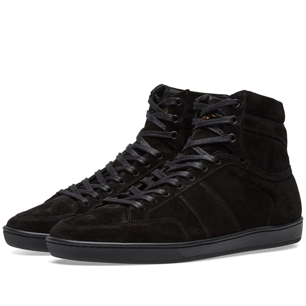 SAINT LAURENT Sl/10H Suede Sneakers - Black Size 11 M