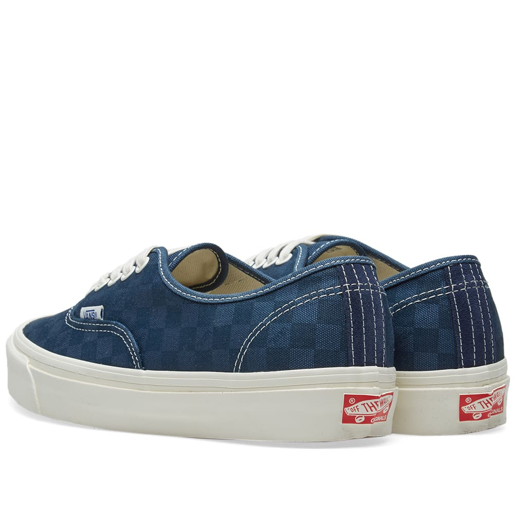 49be10673e Vans Vault OG Authentic LX Checkerboard   Majolica Blue