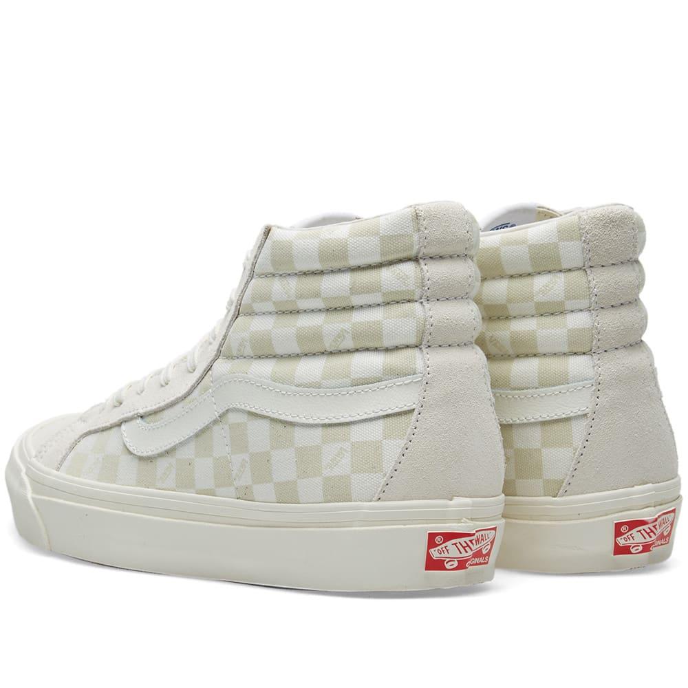 d9202ce4655df1 Vans Vault OG Sk8-Hi LX Checkerboard   Marshmallow