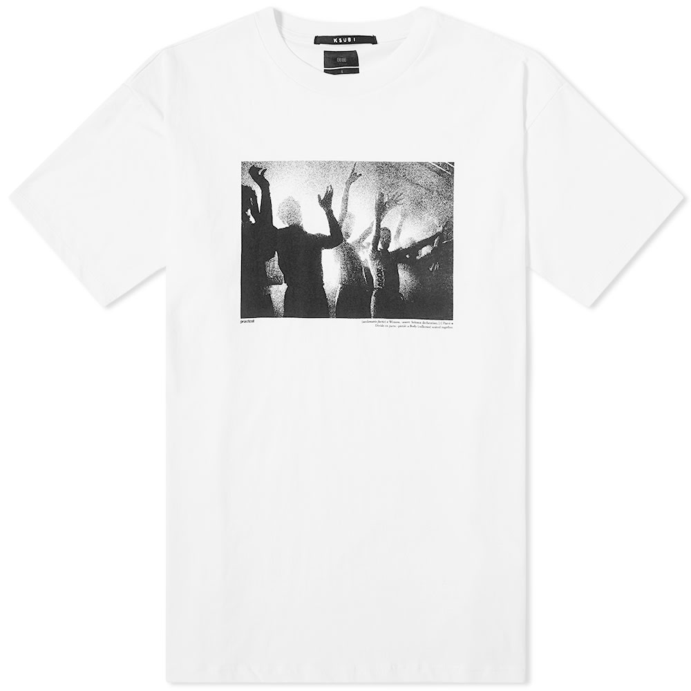 Ksubi Dancers-print Cotton-jersey T-shirt In  White