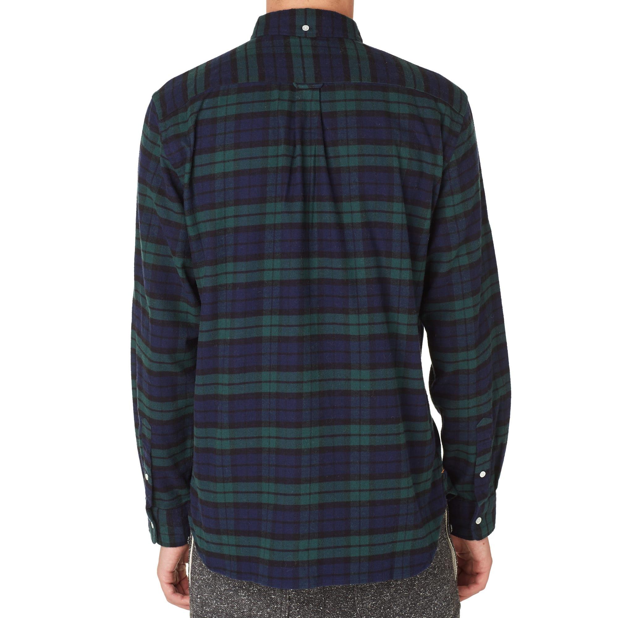 Beams Plus Button Down Flannel Shirt
