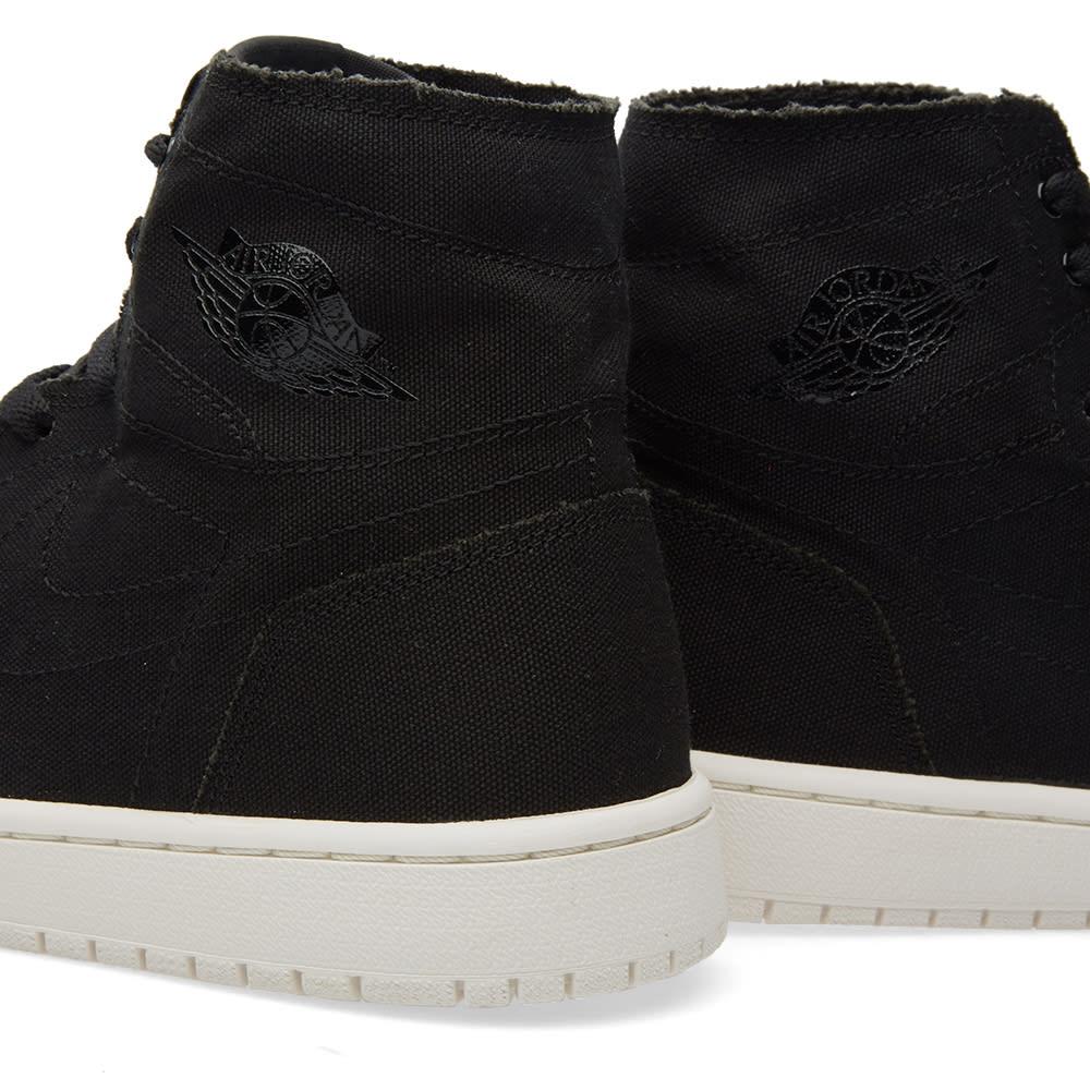 e9fe938af4ee22 Nike Air Jordan 1 Retro High Decon Black   Sail