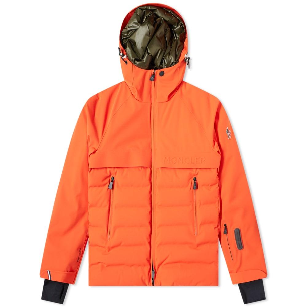 Moncler Grenoble Achensee Embossed Logo Hooded Down Jacket