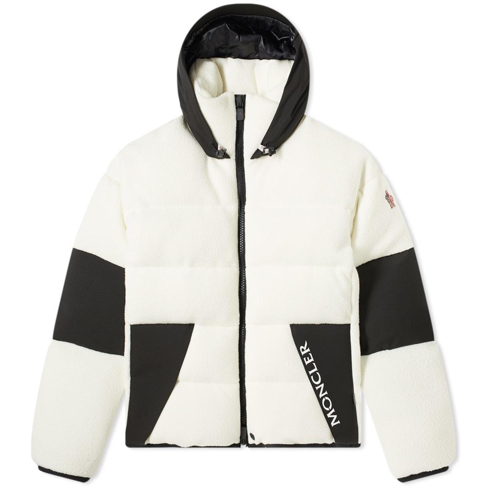 Moncler Grenoble Polar Fleece Down Hooded Jacket