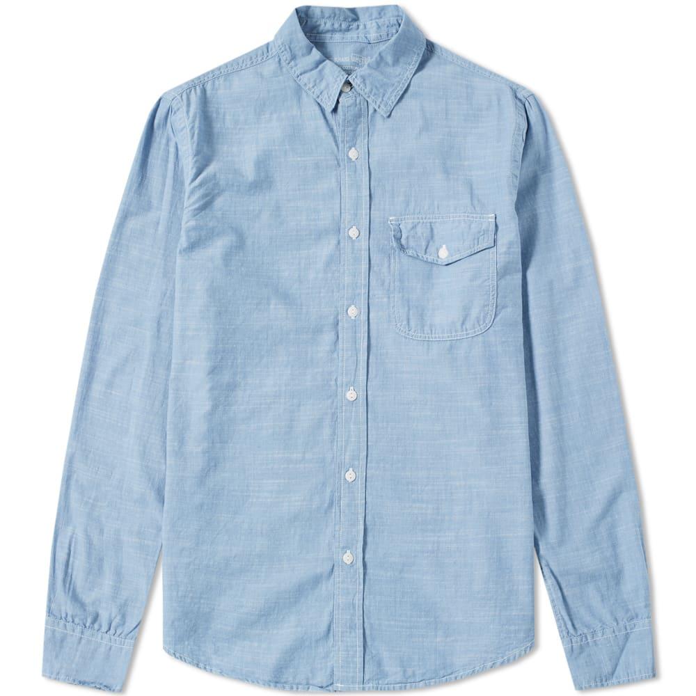 Save khaki chambray work shirt light blue for Light blue work shirt