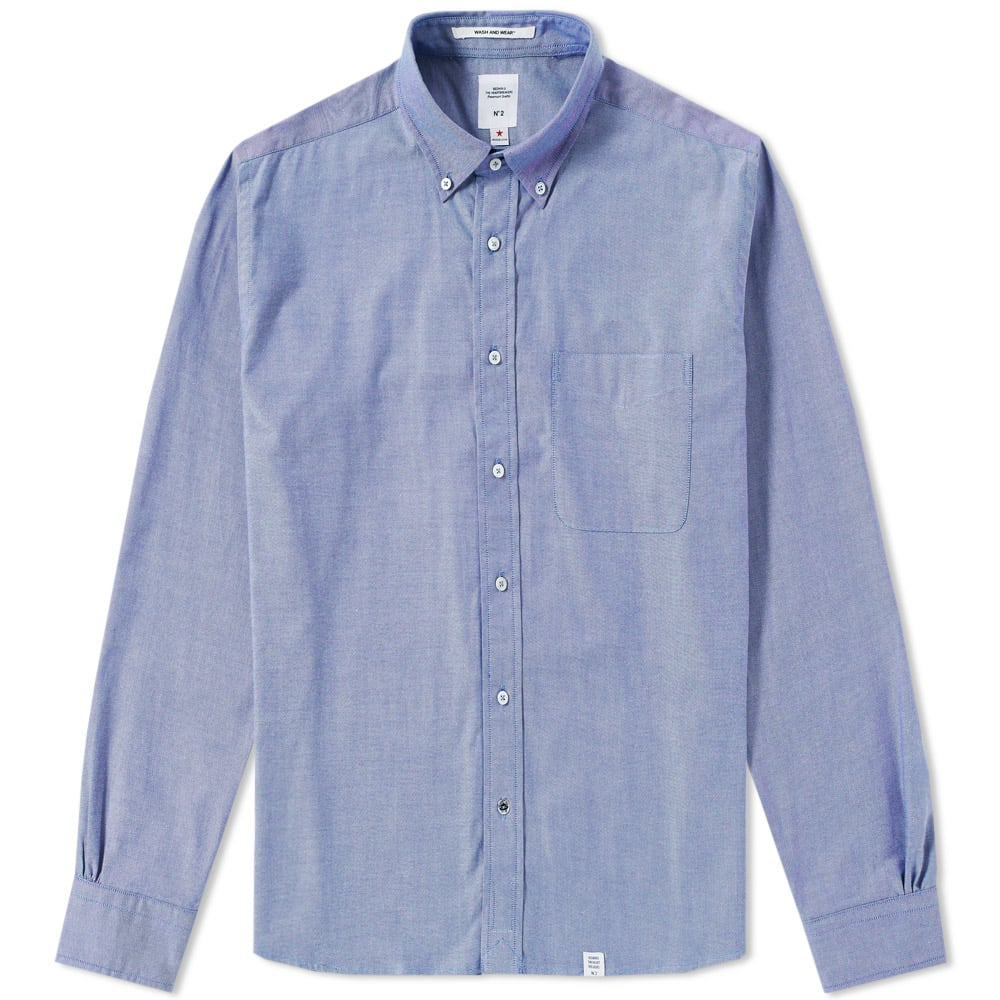 BEDWIN & THE HEARTBREAKERS Bedwin & The Heartbreakers Button Down Brian Oxford Shirt in Blue