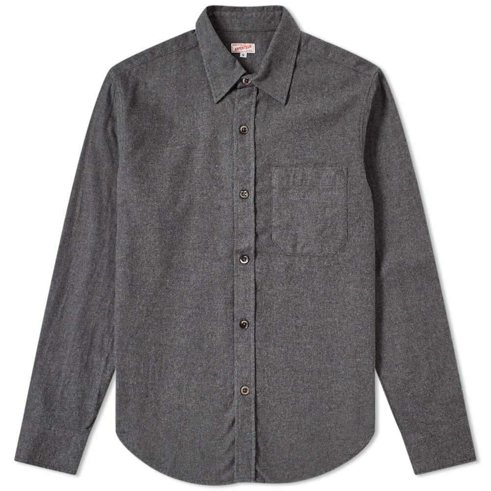 ARPENTEUR Arpenteur Ted Flannel Shirt in Grey