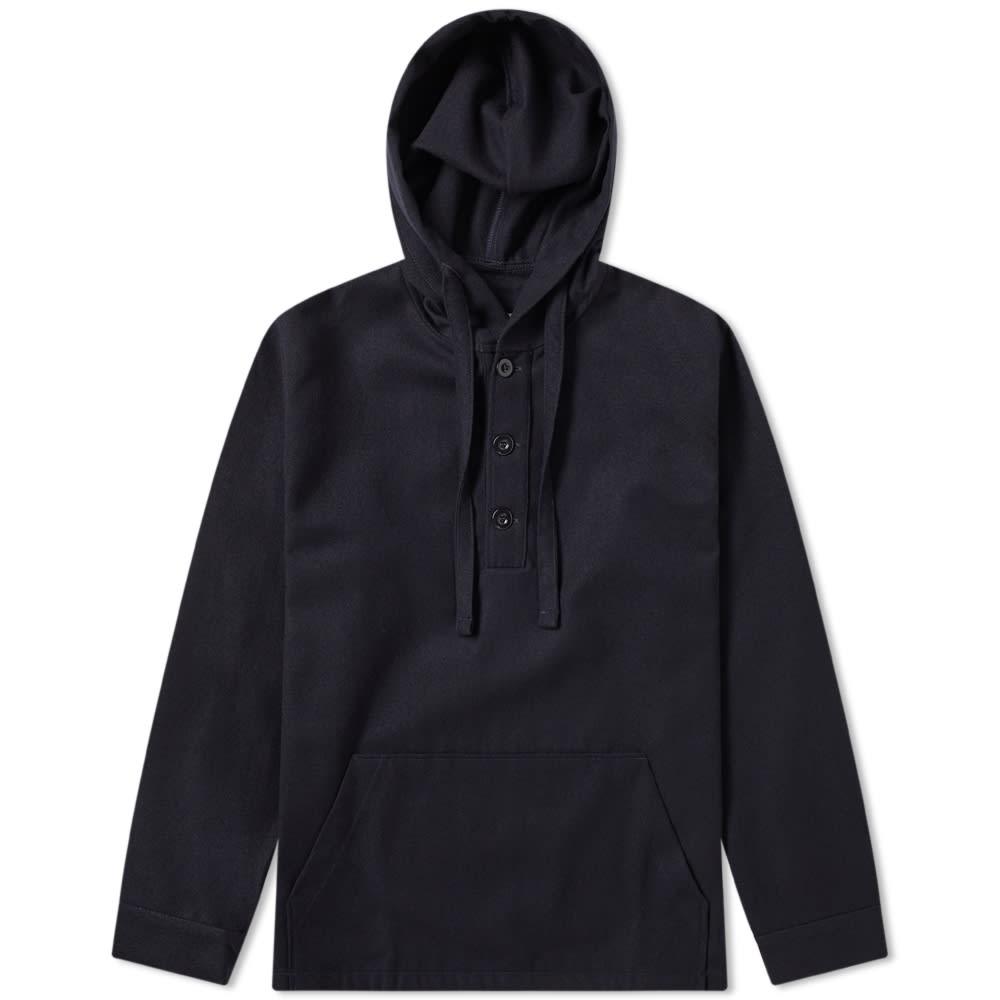 ARPENTEUR Arpenteur Toast Wool Popover Jacket in Blue