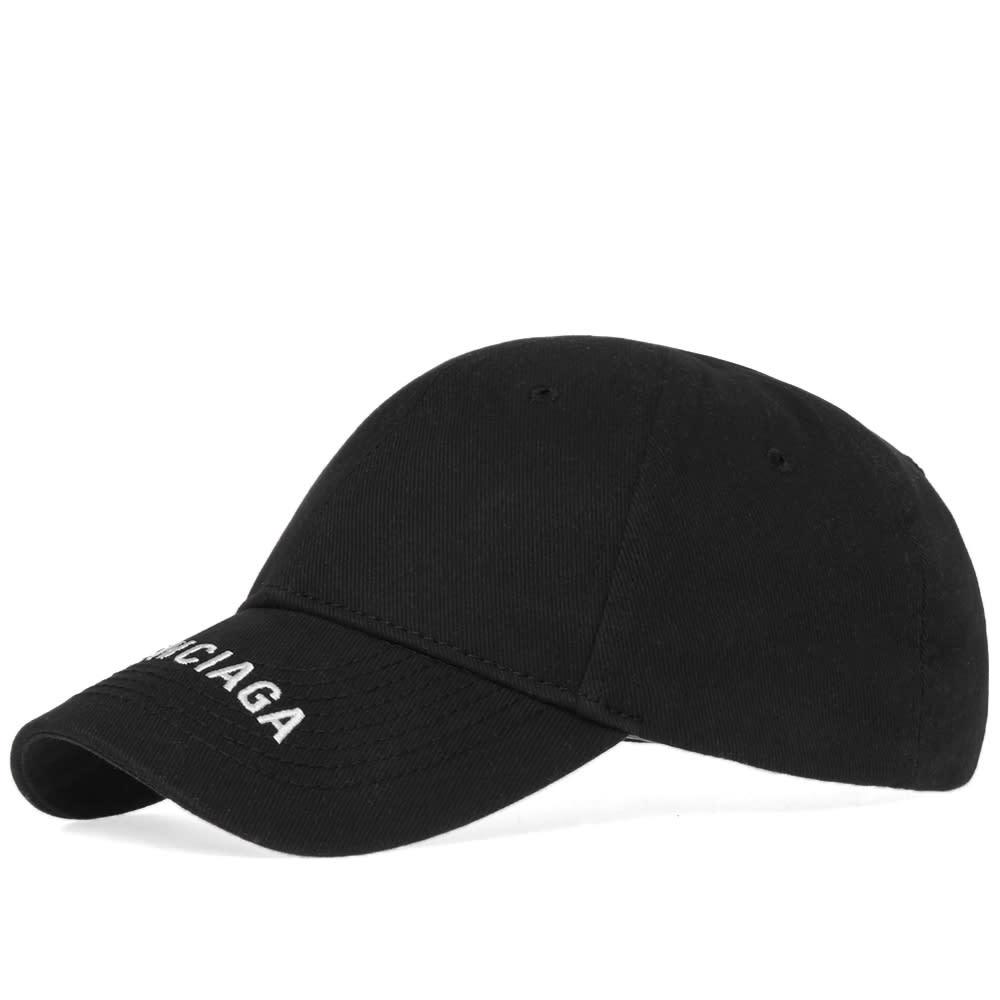 cc6e6a67db0 Balenciaga Visor Logo Cap Black