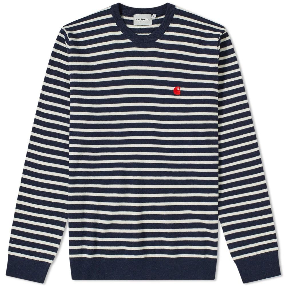 Carhartt Robie Sweater Dark Navy//Snow