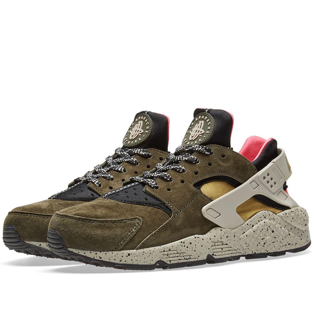 b6415d4e453 Nike Air Huarache Run Premium Black   Desert Moss