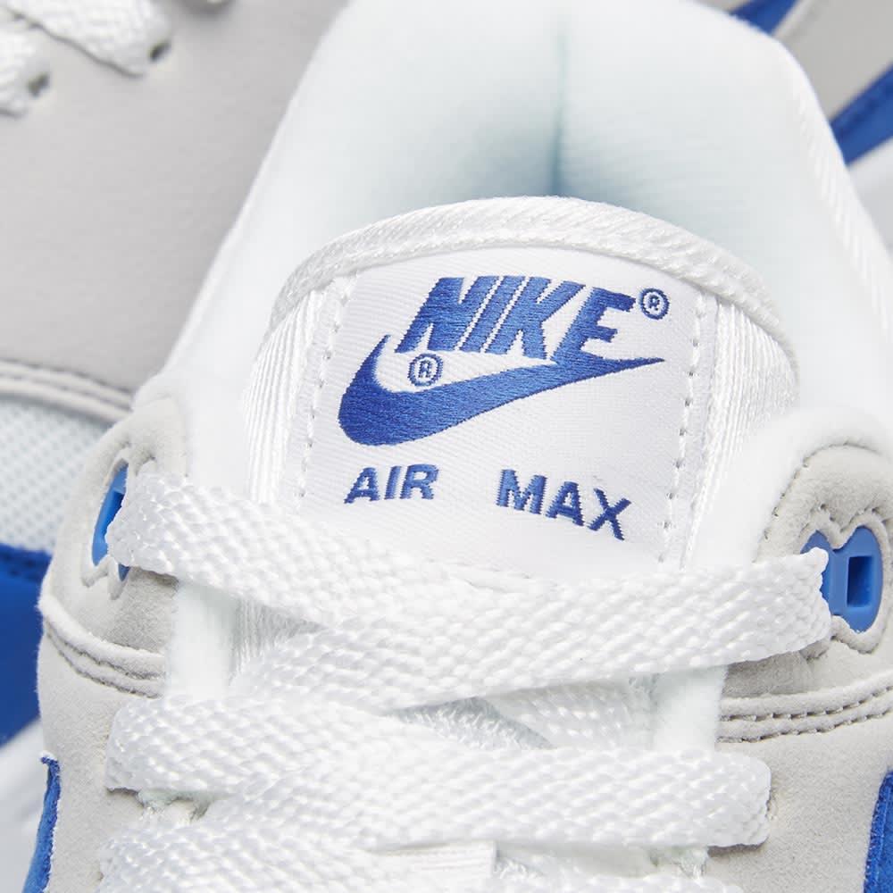 free shipping 4991f d1535 Nike Air Max 1 Anniversary White   Game Royal   END.