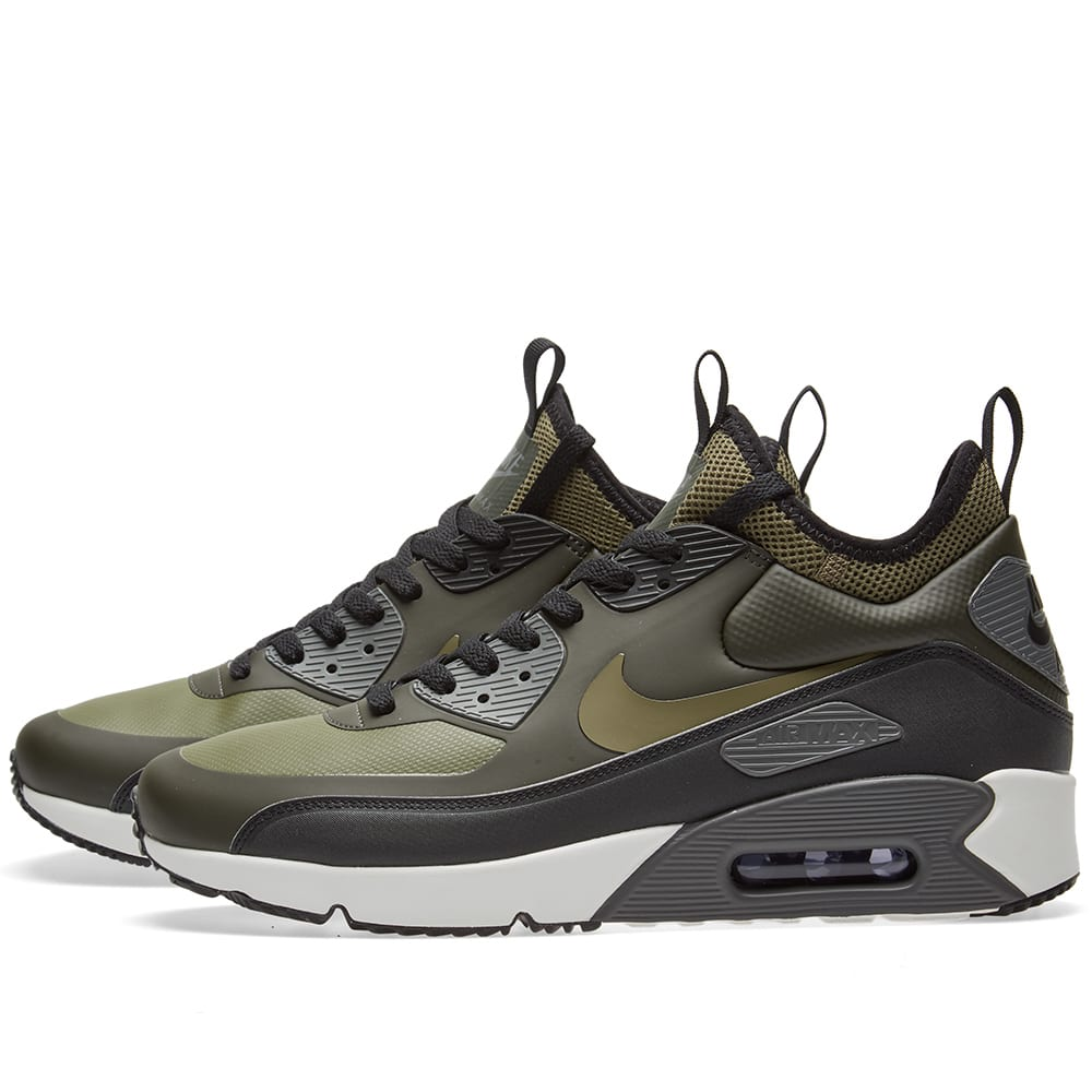 new product 053e3 31d46 Nike Air Max 90 Ultra Mid Winter Sequoia, Medium Olive   Black   END.