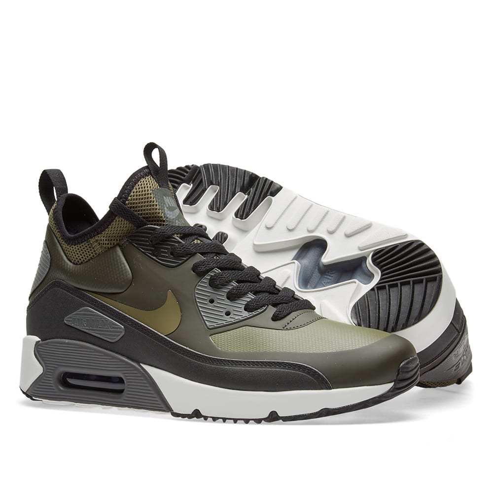 hot sales 41cfb 69234 Nike Air Max 90 Ultra Mid Winter. Sequoia, Medium Olive   Black