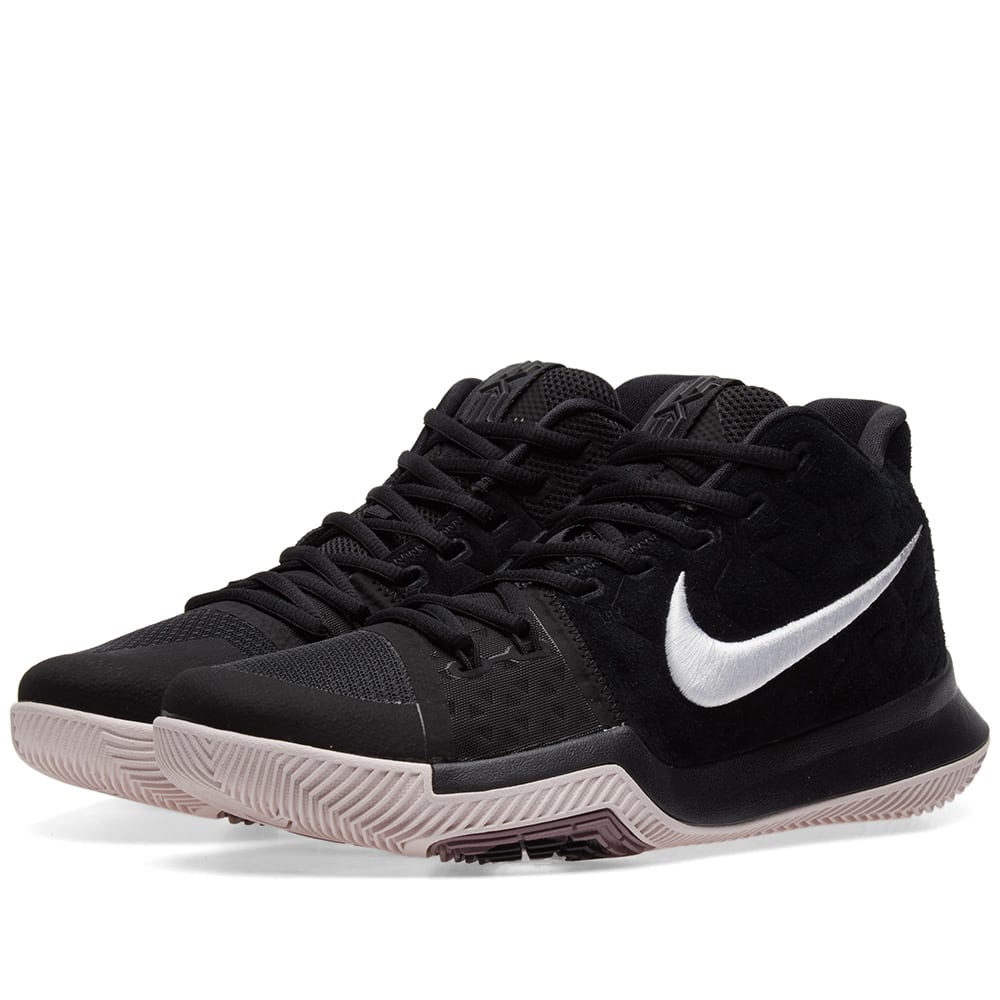 check out a55b7 4bdcd Nike Kyrie 3 Black, White   Silt Red   END.