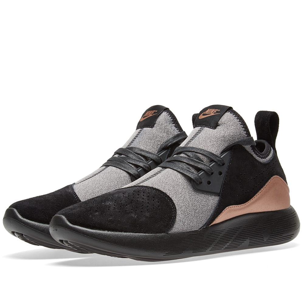 promo code 665b1 1e407 Nike Lunarcharge Premium Black, Metallic Red & White | END.