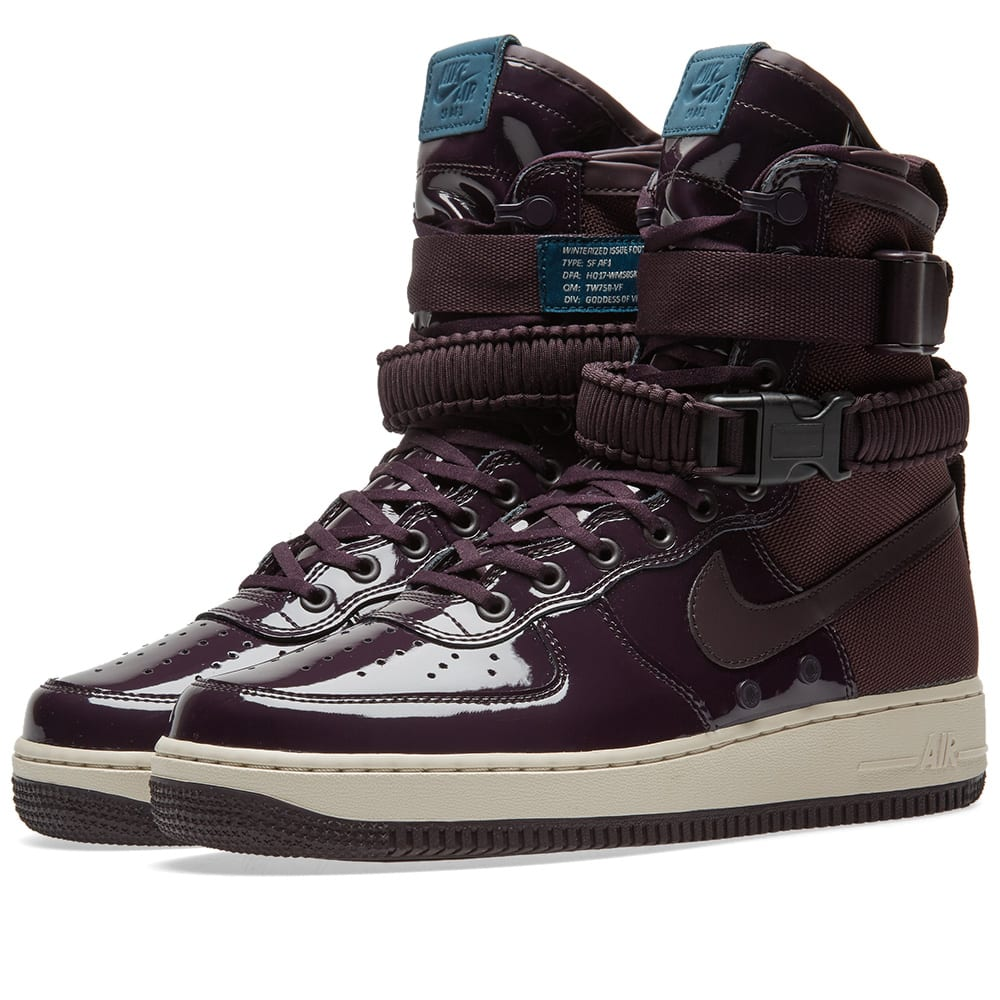 sports shoes fd076 8a375 Nike SF Air Force 1 SE Premium W Port Wine   Space Blue   END.