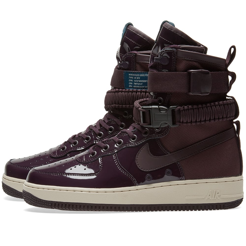 Nike Women Air Force 1 Sf Special Edition Premium (port wine port wine space blue)