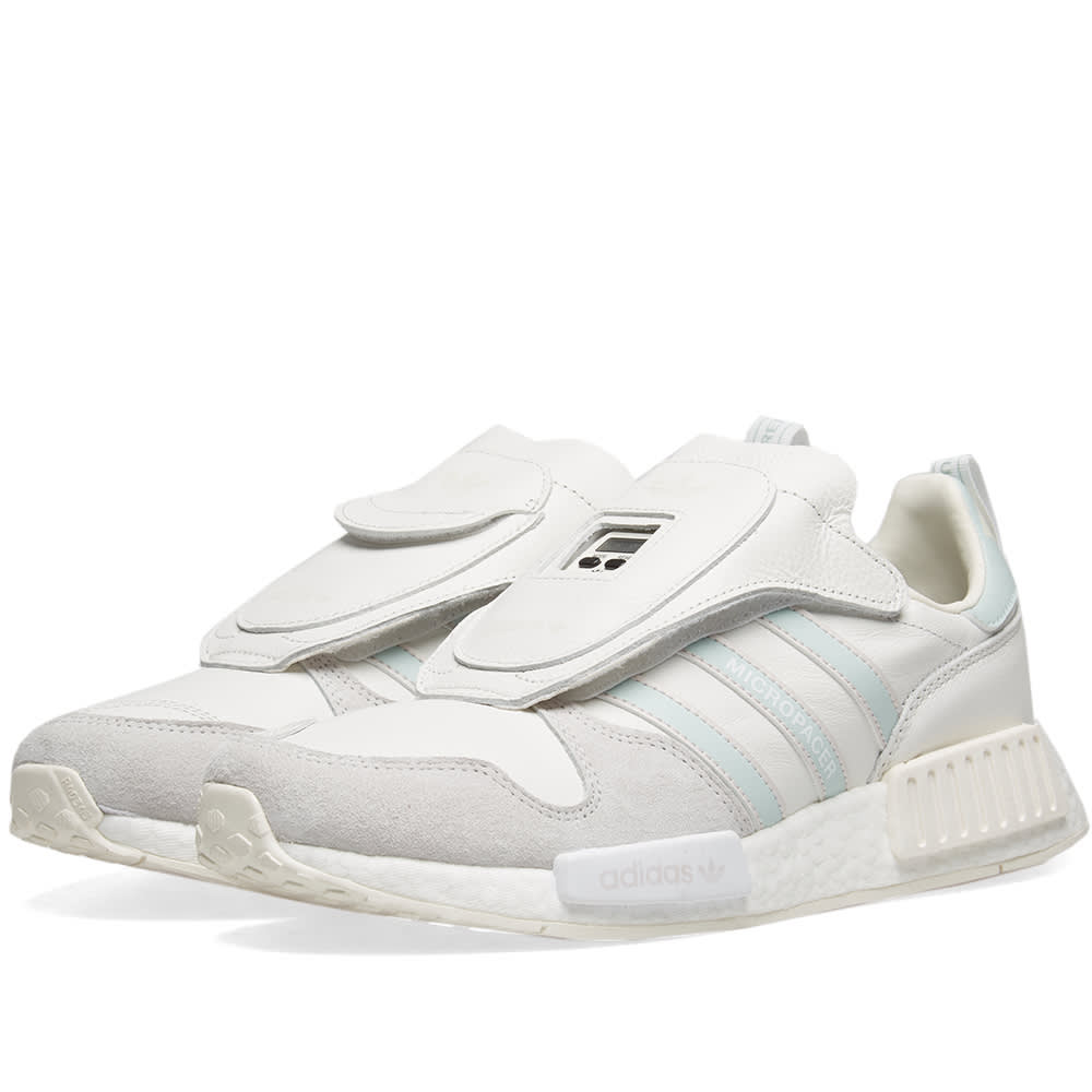 6e49e34690933 Adidas Micropacer x R1 Cloud White
