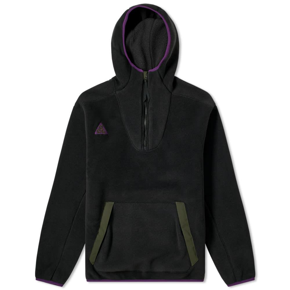 Nike Acg Sherpa Fleece Hoody in Black
