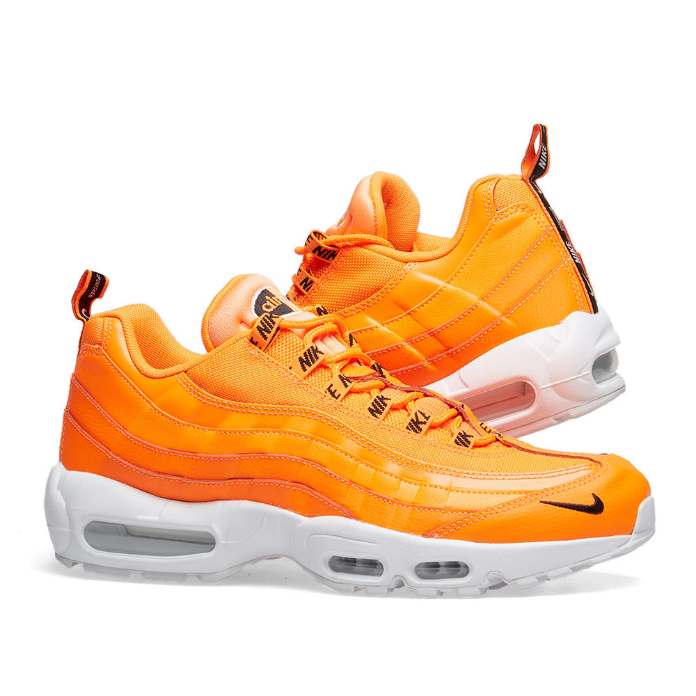 new style 4f99b fa1d5 Nike Air Max 95 Premium. Total Orange, Black   White