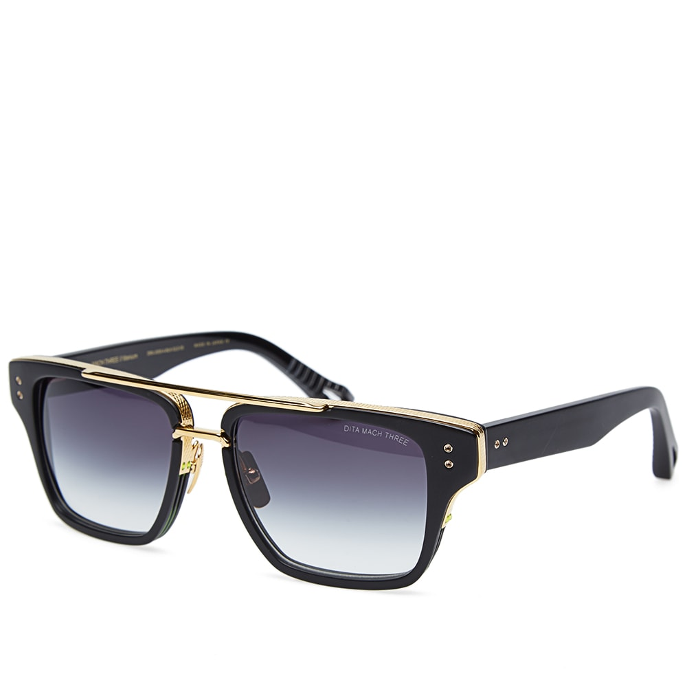 dita mach three sunglasses matte black grey