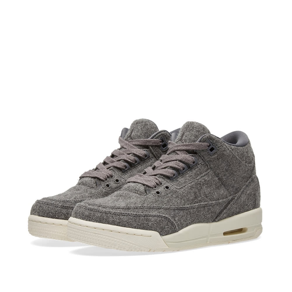 quality design c7bfc ddbdf Nike Air Jordan 3 Retro Wool BG Dark Grey   Sail   END.