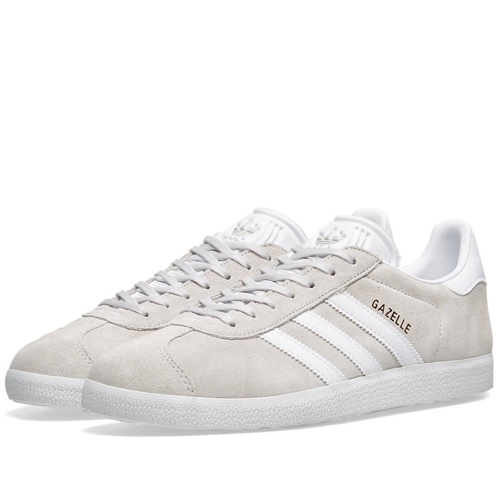 size 40 7b882 83267 Adidas Gazelle Grey, White   Gold Metallic   END.