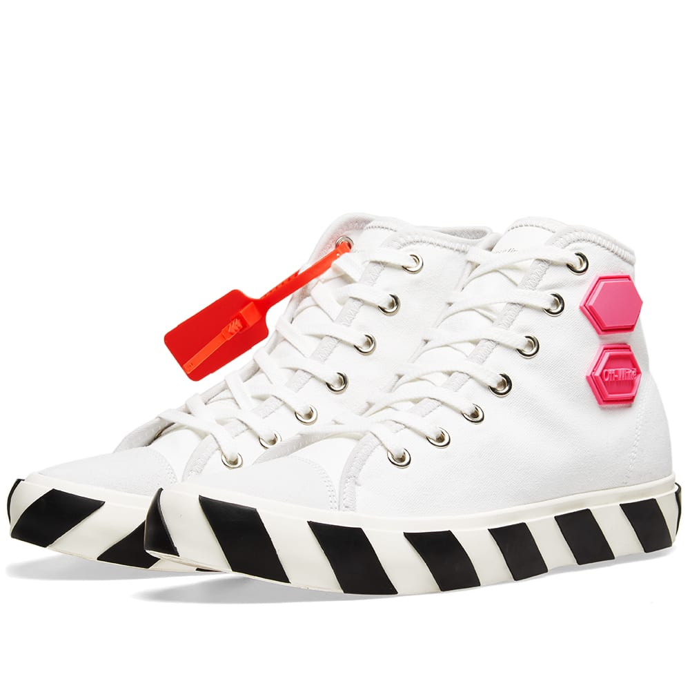 Off-White Canvases OFF-WHITE VULCANISED STRIPED HI TOP SNEAKER