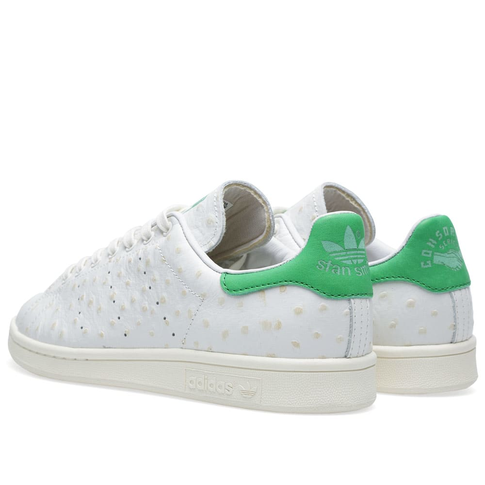 new style 95113 eb47c Adidas Consortium Stan Smith  Ostrich Leather  White Vapour   Fairway   END.