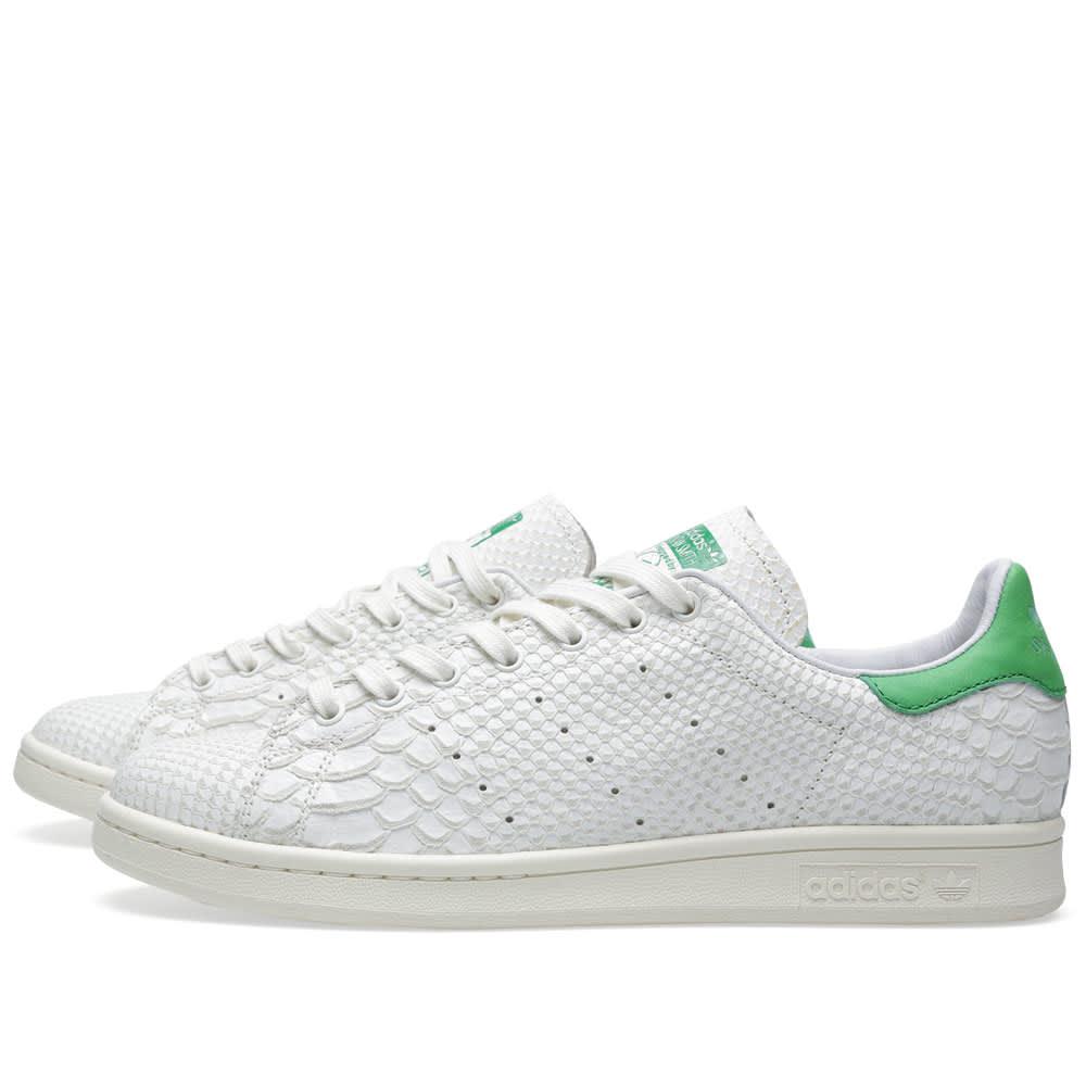 Inclinarse ilegal Puñado  Adidas Consortium Stan Smith 'Reptile Leather' White Vapour & Fairway | END.