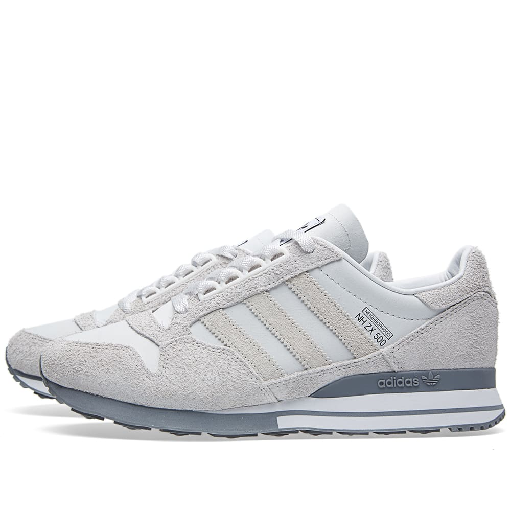 34ffdcaf7 Adidas x Neighborhood ZX 500 OG Neo White   Grey