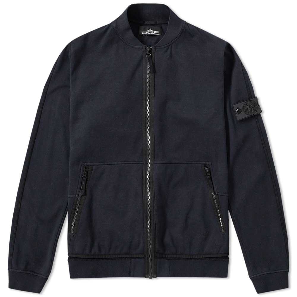 Stone Island Shadow Project Jersey-R 3L Zip Bomber (Navy)