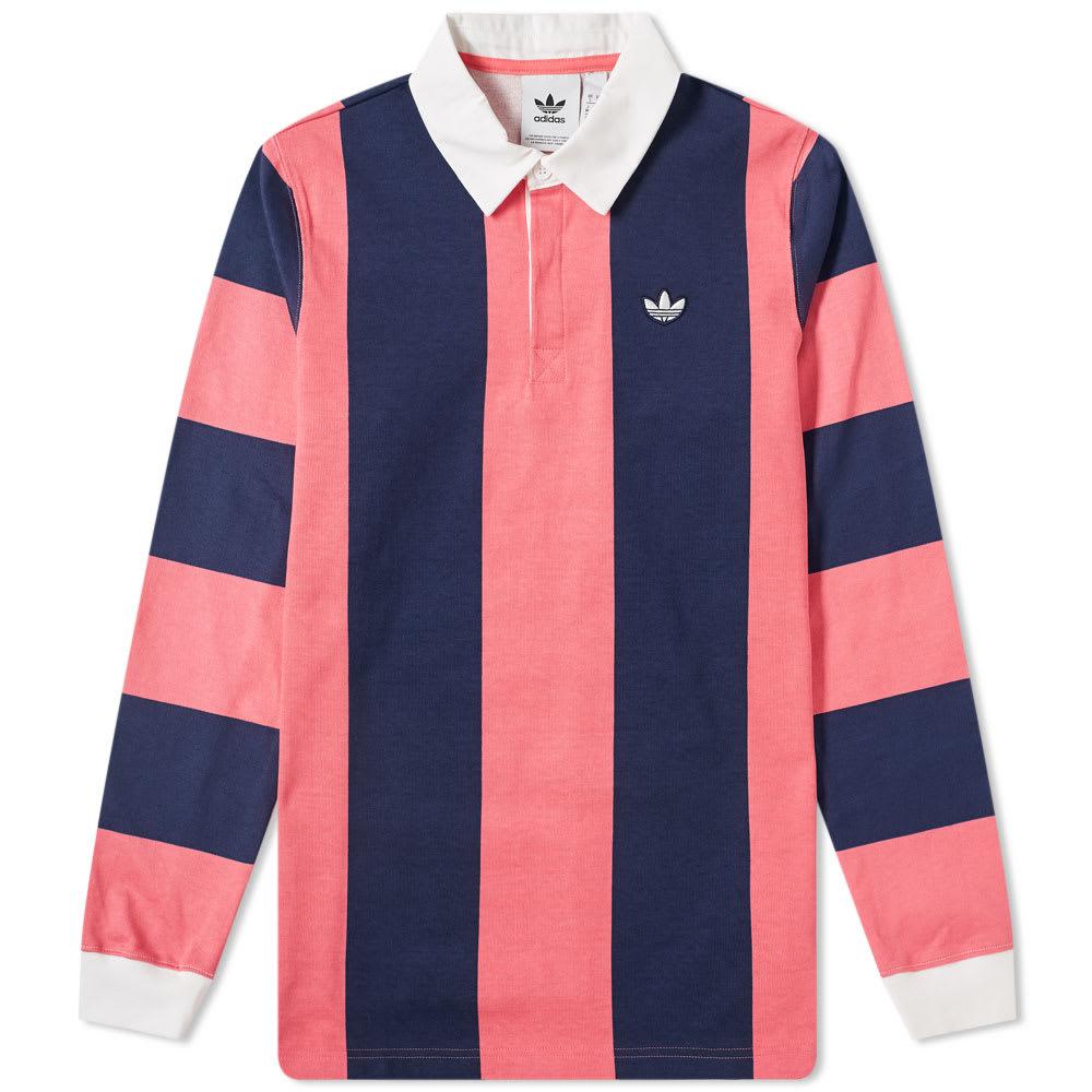 2bf38593 Adidas Rugby Shirt Night Indigo & Real Pink | END.