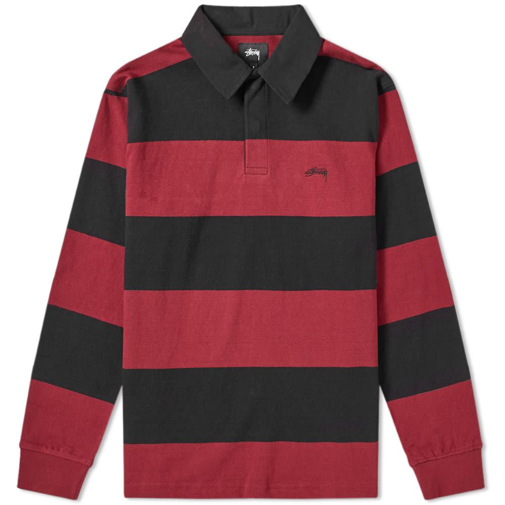 357cafa9a9a Stussy Ralphie Stripe Rugby Shirt Black   END.